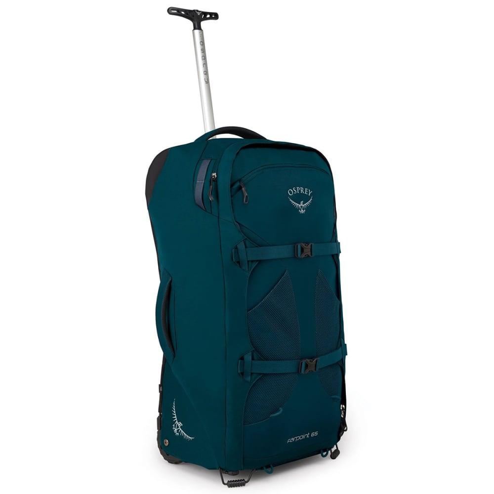 OSPREY Men's Farpoint Wheeled Travel Backpack - PETROL BLUE