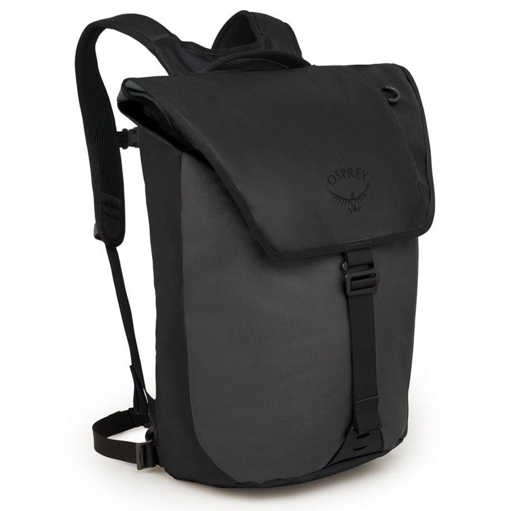 OSPREY Transporter Flap Backpack - BLACK