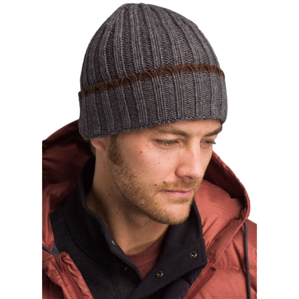 PRANA Men's Lebon Beanie - CHARCOAL HEATHER