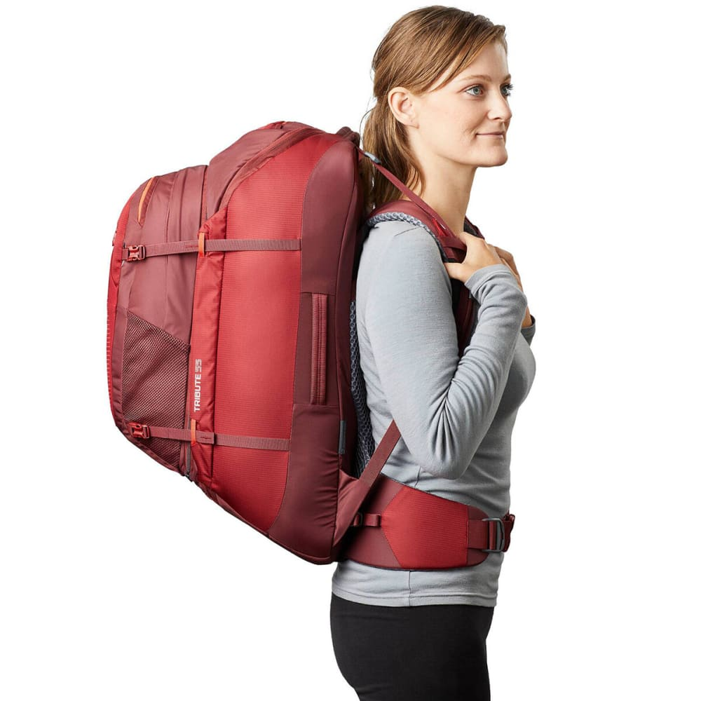 GREGORY Women's Tribute 55 Travel Backpack - BORDEAUX RED