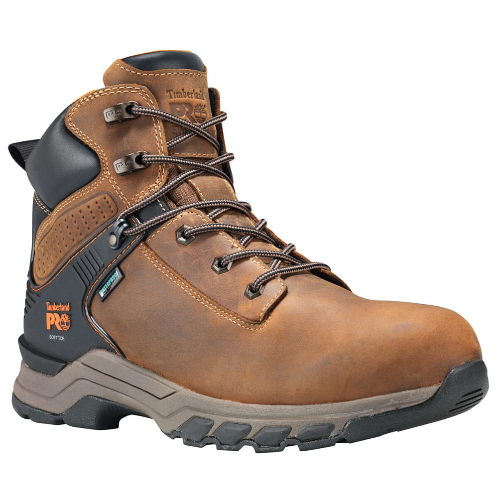 """TIMBERLAND Men's Pro Hypercharge 6"""" Soft Toe Workboot - BROWN 214"""