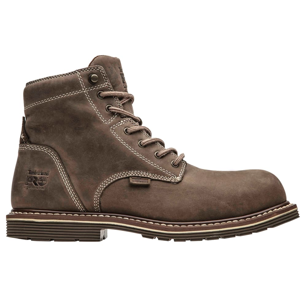 "TIMBERLAND PRO Men's Millwork 6"" Composite Toe Boot - TURK COFFEE BRN-214"