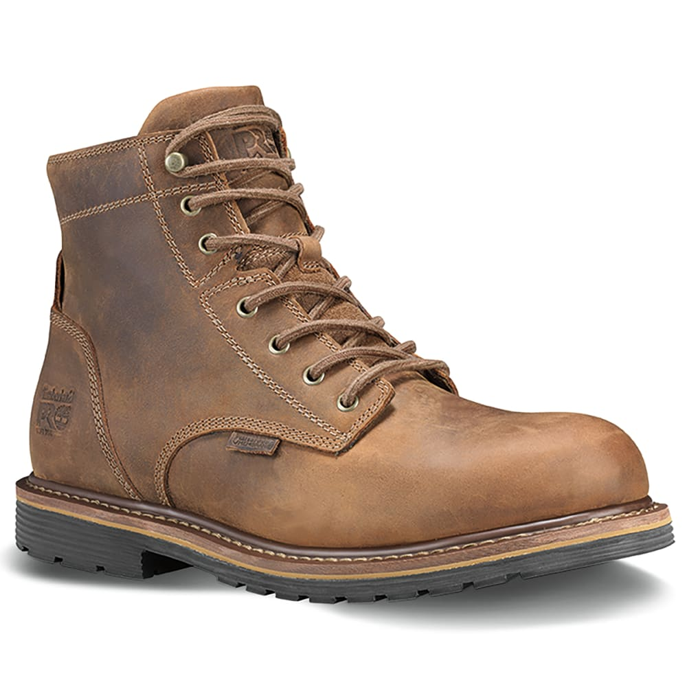 """TIMBERLAND PRO Men's Millwork 6"""" Soft Toe Boot - BROWN 214"""