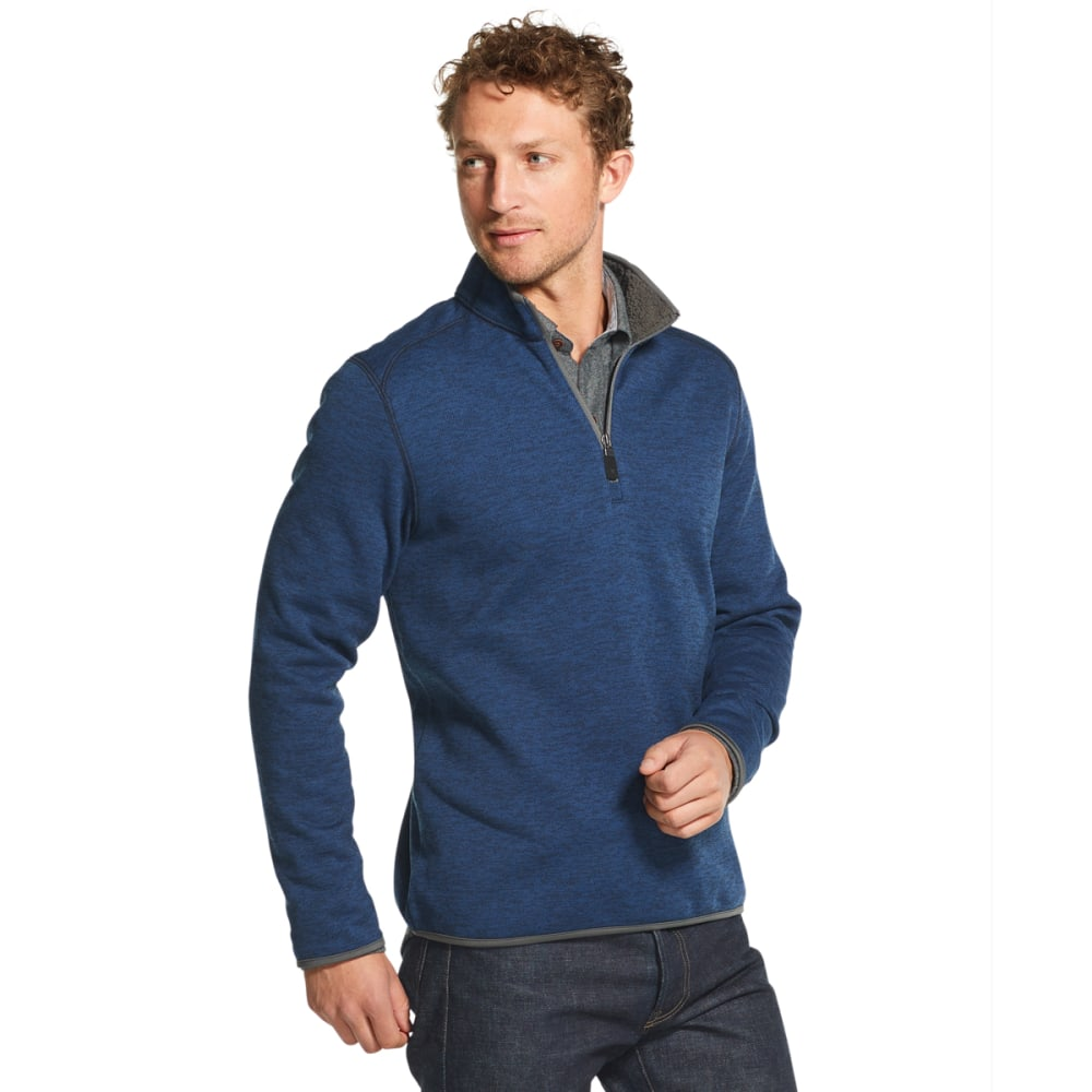 GH BASS Men's Mountain Fleece 1/4-Zip Pullover - CLUB BLUE -411