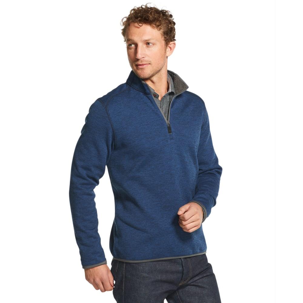G.H. BASS & CO. Men's Mountain Fleece 1/4-Zip Pullover - CLUB BLUE -411