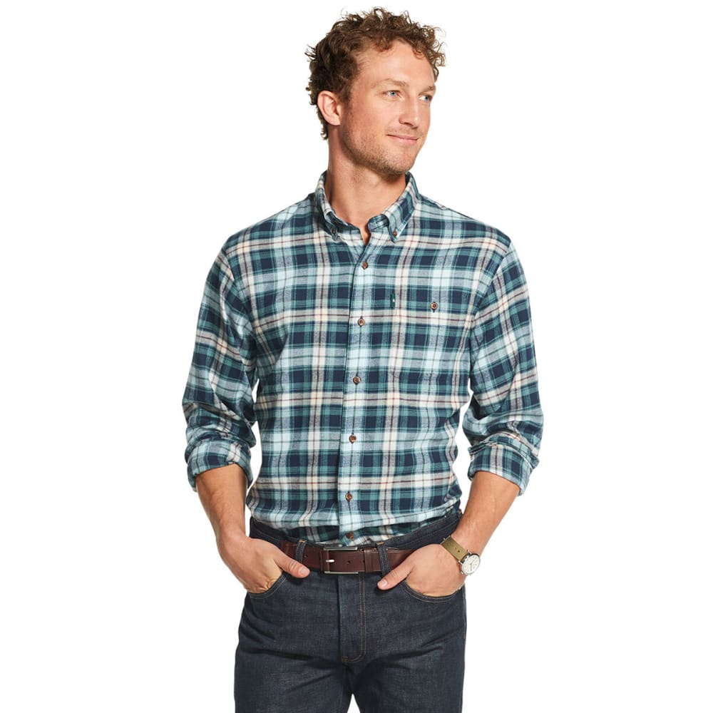G.H. BASS & CO. Men's Plaid Fireside Flannel Button-Down - NAVY-410