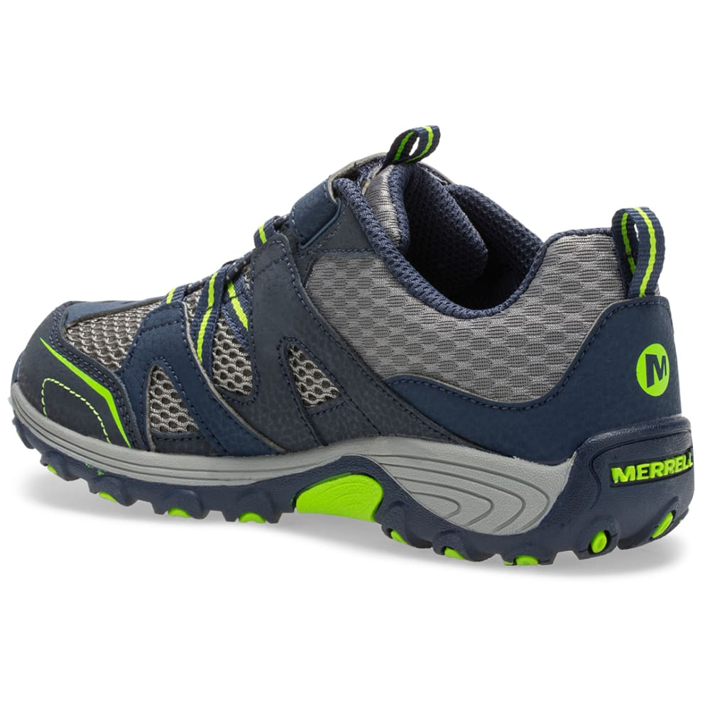 MERRELL Kids' Trail Chaser Shoe, Wide - NAVY/GREEN