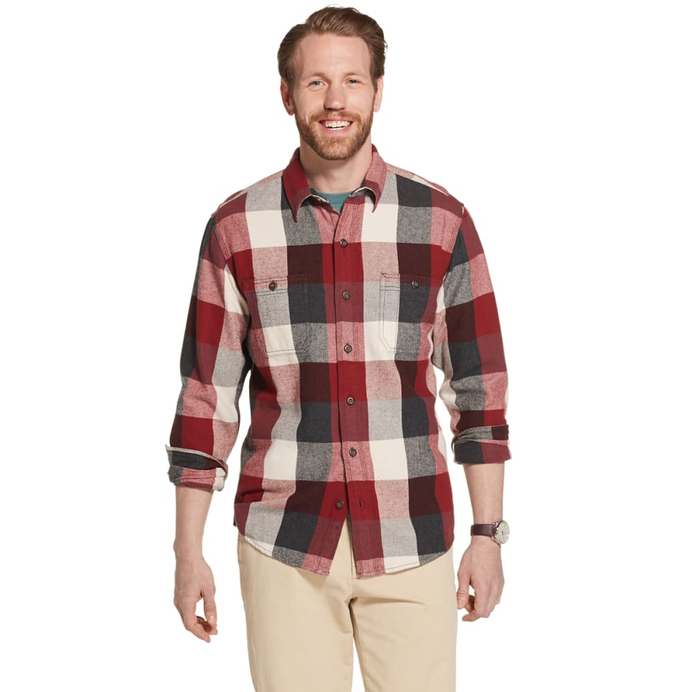 G.H.BASS & CO. Men's Bull Twill Plaid Shirt - 641-SUNDRIED TOMATO