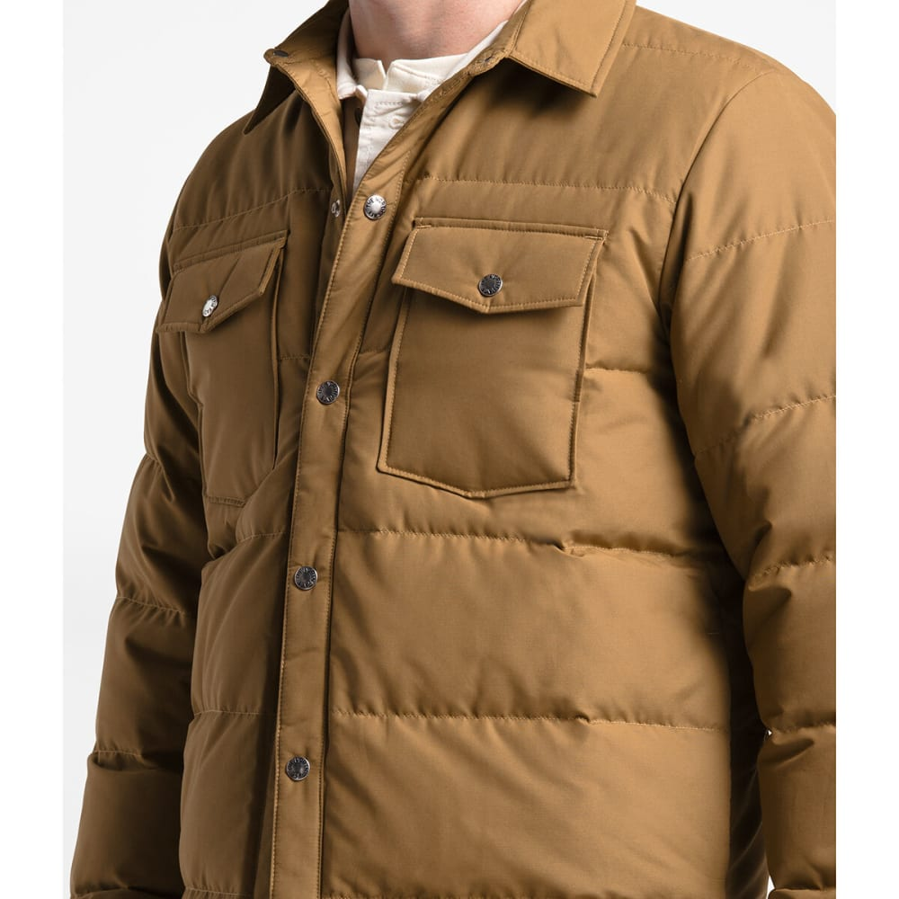 THE NORTH FACE Men's Down Sierra Snap Jacket - WXE CEDAR BROWN