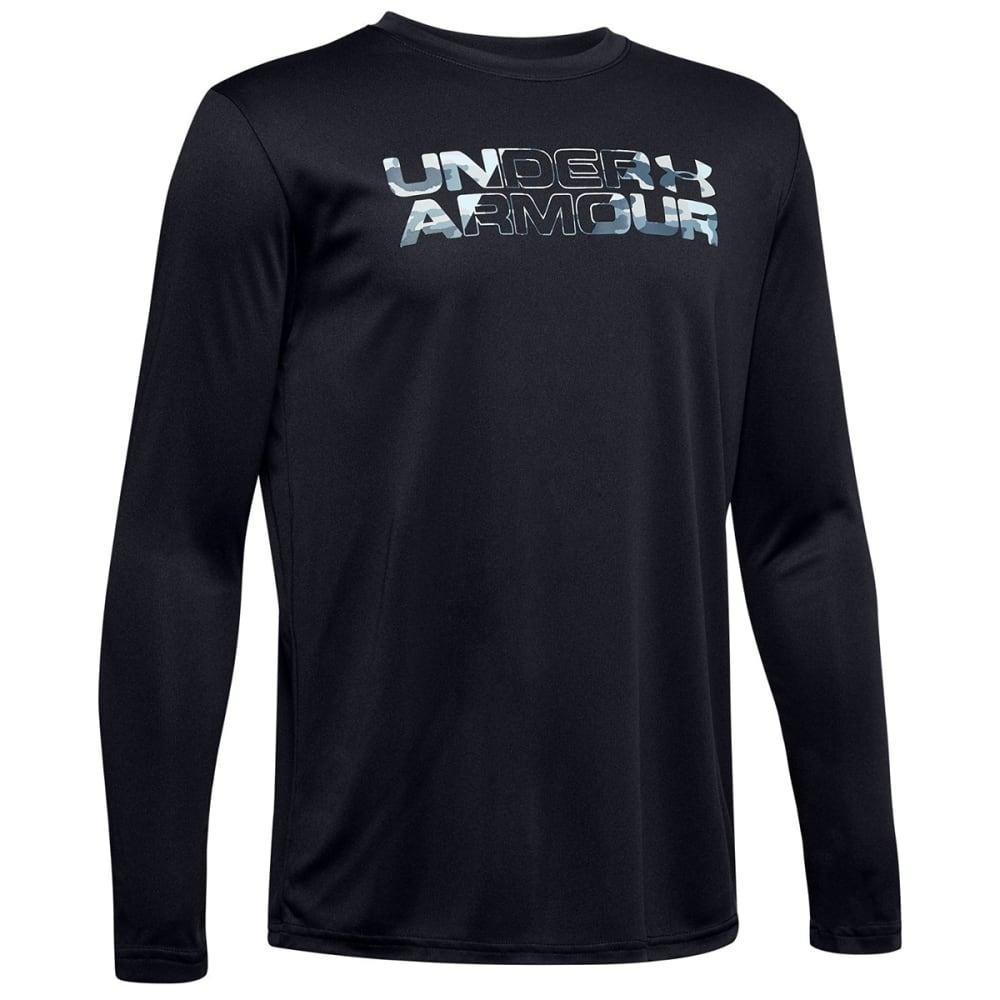 UNDER ARMOUR Boys' Long-Sleeve UA Big Logo Print Fill Shirt S