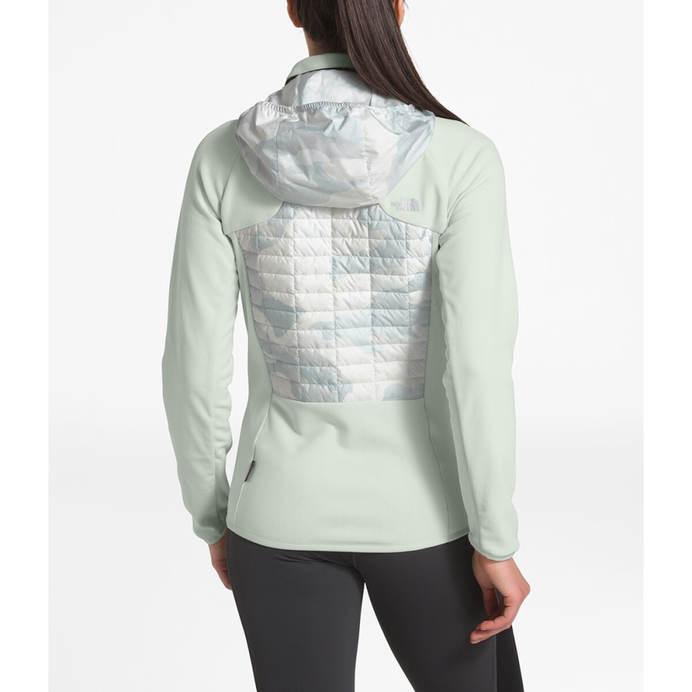 THE NORTH FACE Women's Thermoball Hybrid Jacket - HN5 TIN GREY TNF WHI