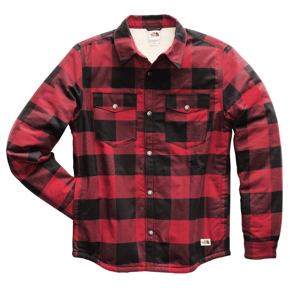 THE NORTH FACE Men's Campshire Long-Sleeve Shirt - HE5 CARDINAL RED BUF