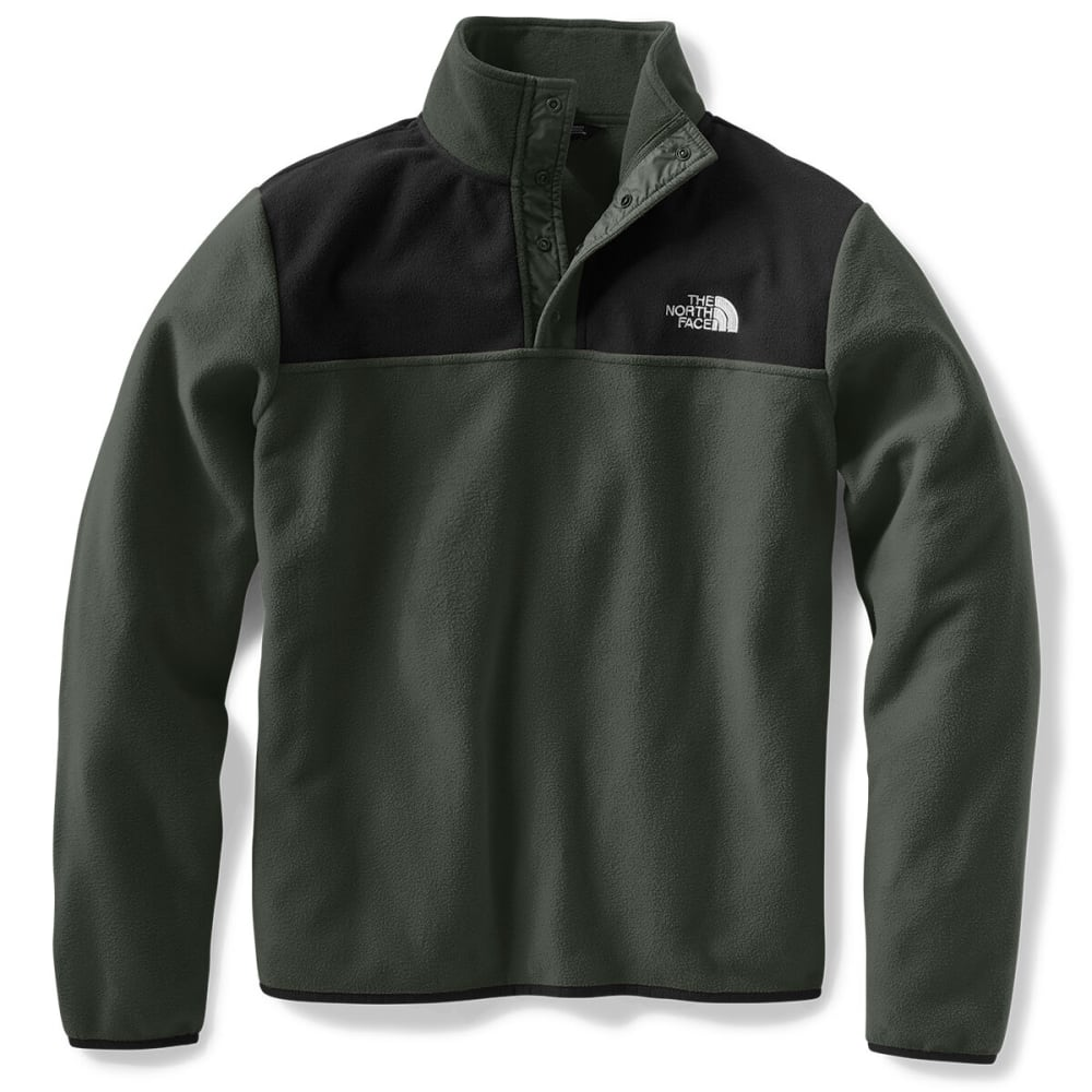 THE NORTH FACE Men's Glacier 1/4 Snap Pullover - BQW NEW TAUPE GRN