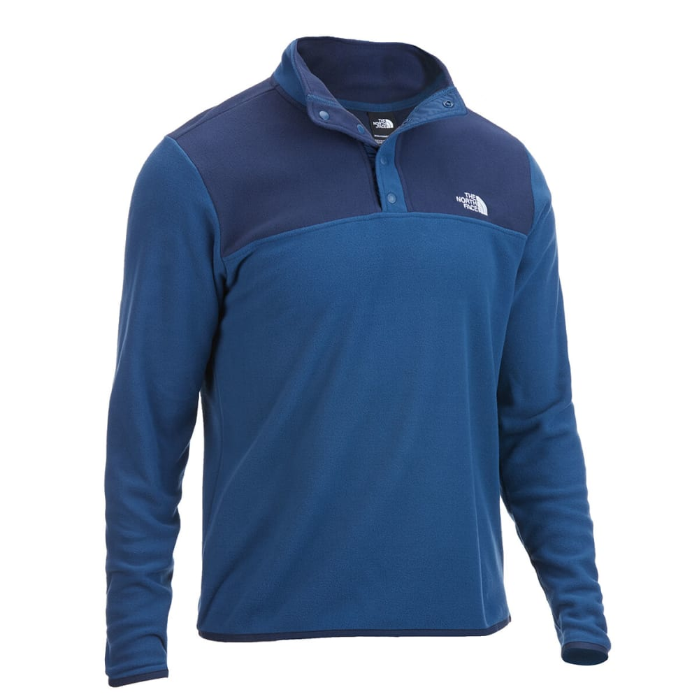 THE NORTH FACE Men's Glacier 1/4 Snap Pullover - 3RC BLUE WING TEAL U