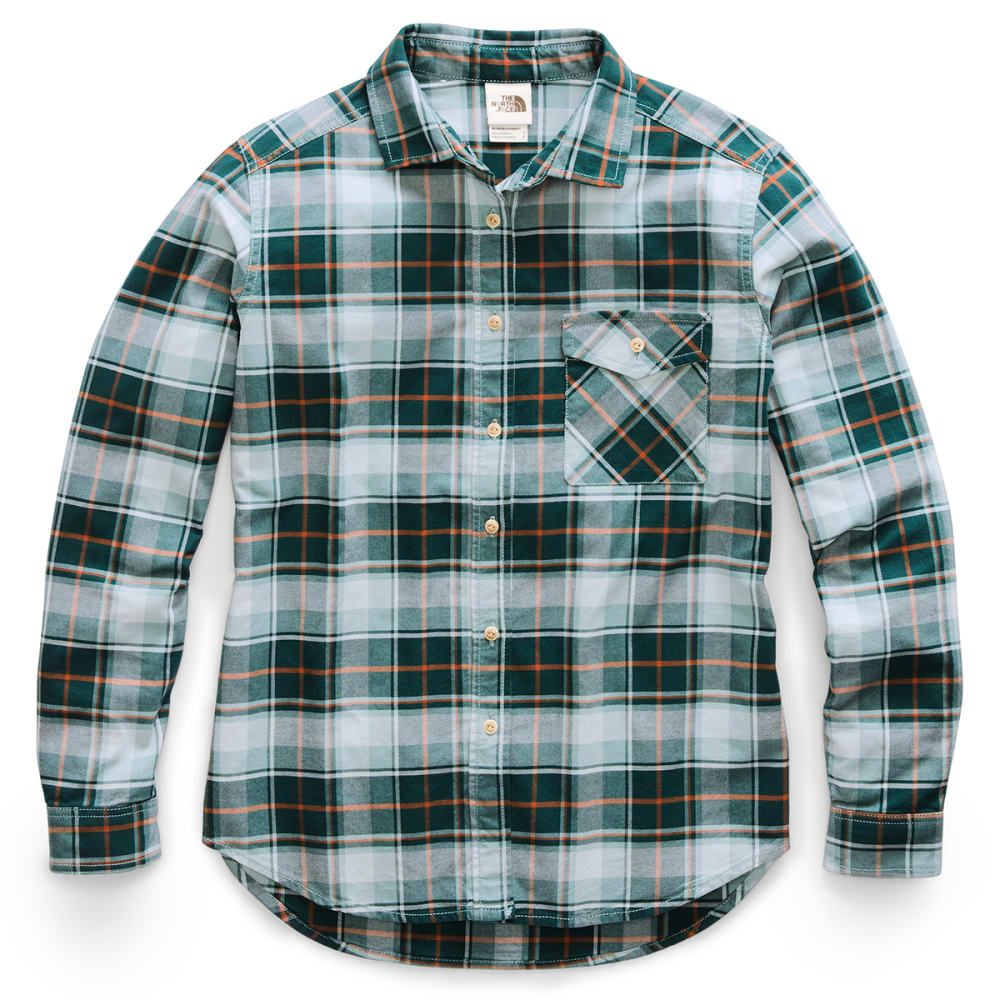 THE NORTH FACE Women's Long-Sleeve Boyfriend Shirt - HE2 PONDEROSA GREEN