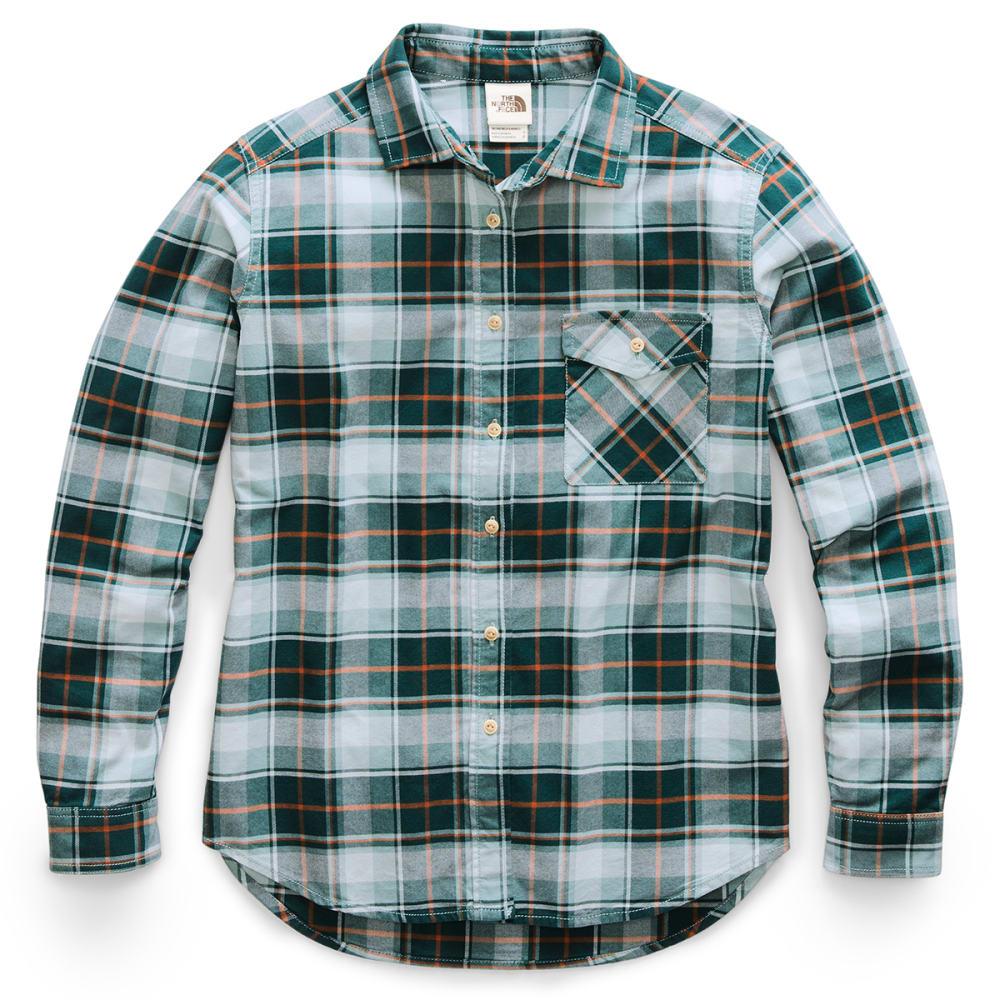 THE NORTH FACE Women's Long-Sleeve Boyfriend Shirt - HE2 PONDEROSA GREEN