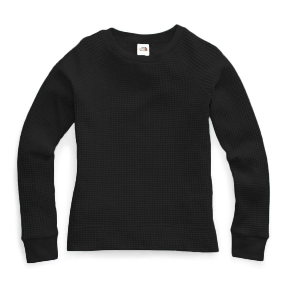 THE NORTH FACE Women's Long-Sleeve Chabot Crewneck Shirt - JK3 TNF BLACK