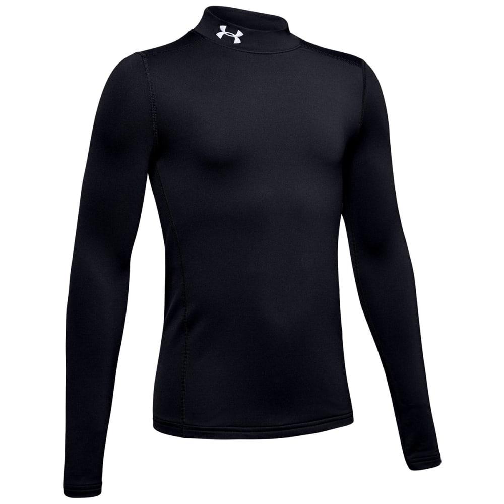 UNDER ARMOUR Boys' ColdGear Mock Long-Sleeve Shirt S