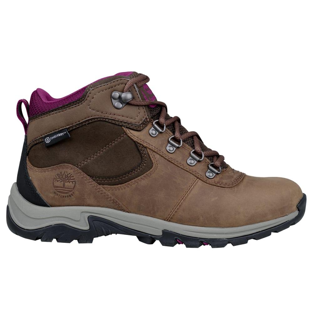 TIMBERLAND Women's Mt. Maddsen Mid Waterproof Hiking Boot - MED BROWN