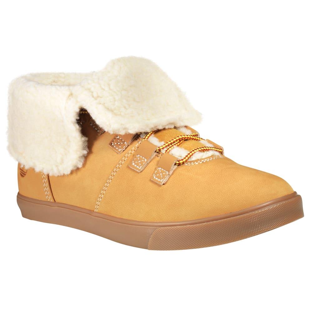 TIMBERLAND Women's Dausette Fleece Fold-Down Boots - WHEAT
