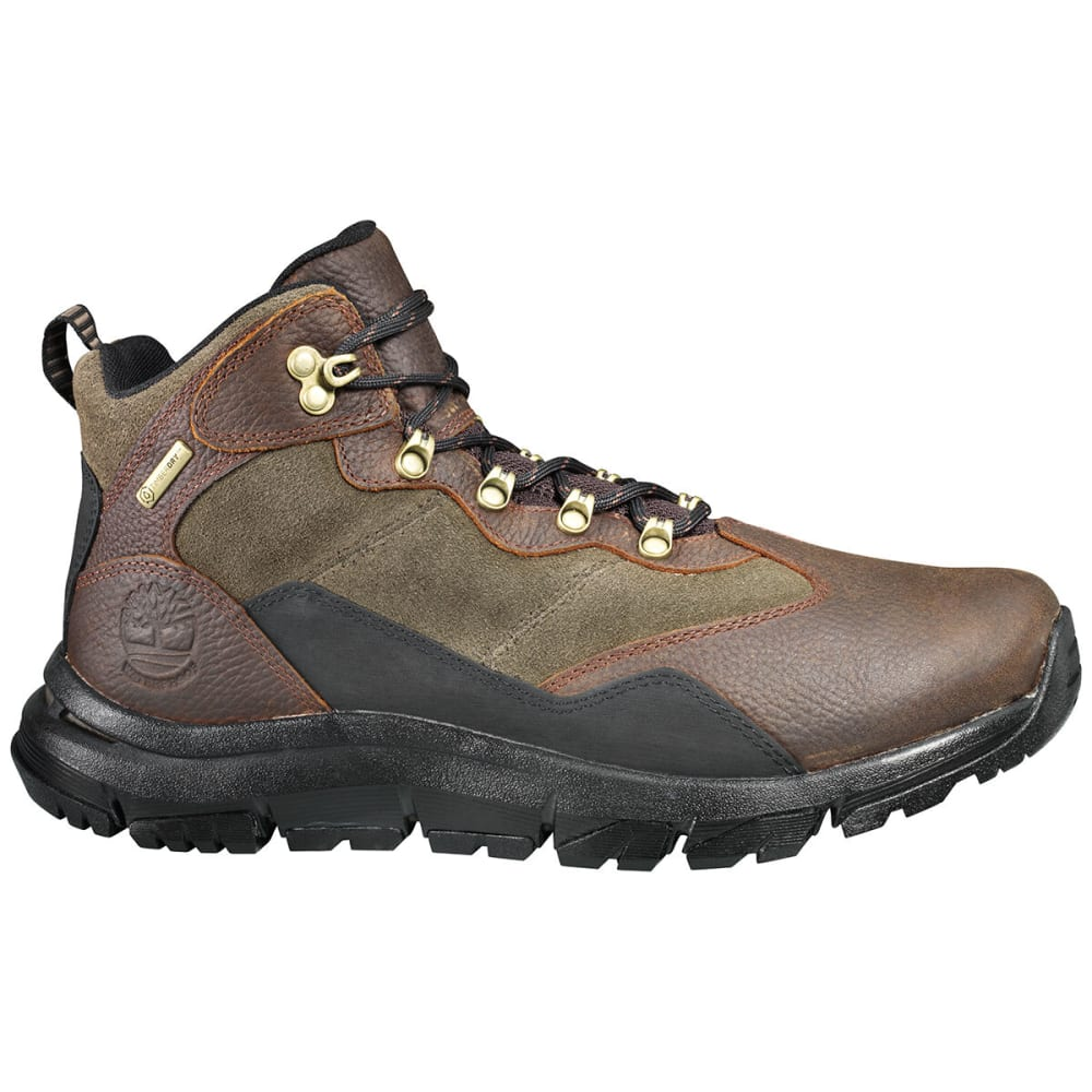 TIMBERLAND Men's Garrison Field Mid Waterproof Hiking Boots - MED BRN
