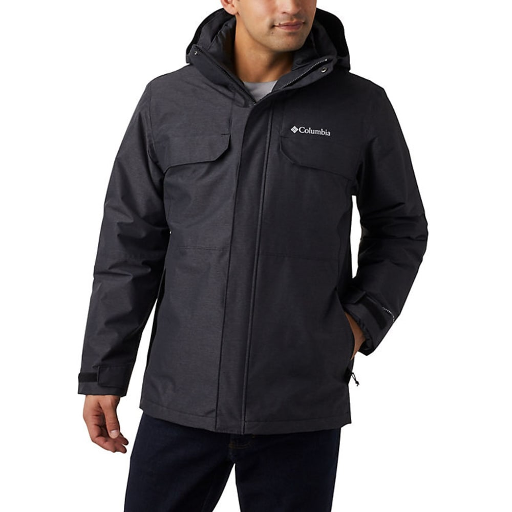 COLUMBIA Men's Cloverdale Interchange Jacket - BLACK-010