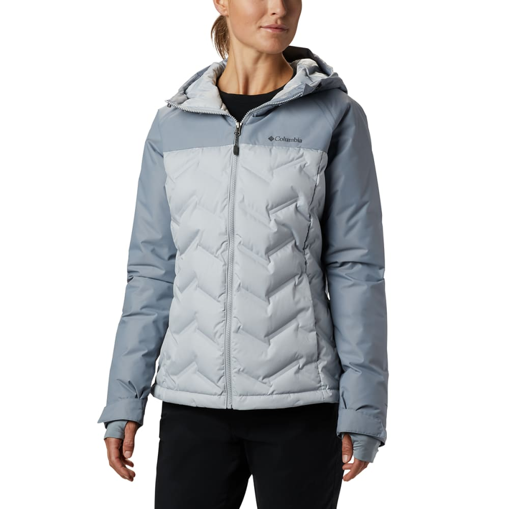 COLUMBIA Women's Grand Trek Down Jacket - 031-CITRUS GREY TRAD