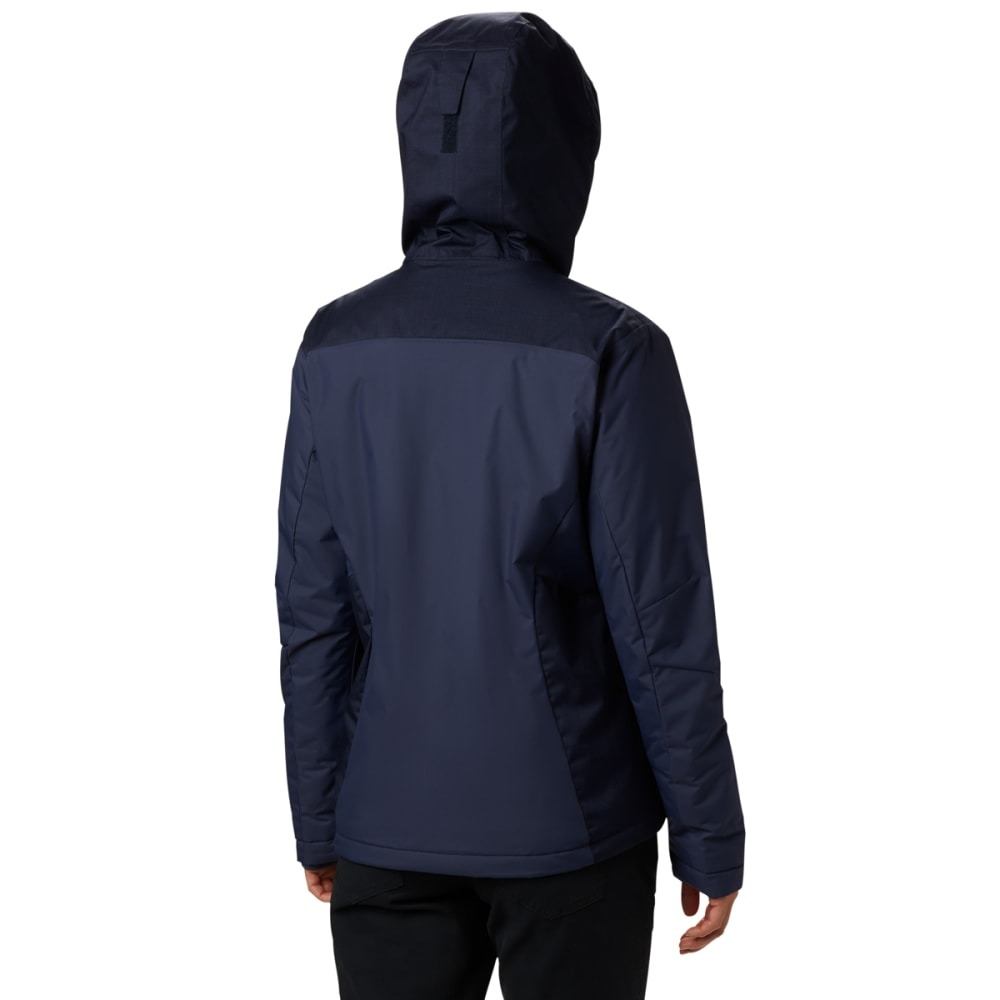 COLUMBIA Women's Tipton Peak Insulated Hooded Jacket - 466 NOCTURNAL DARK