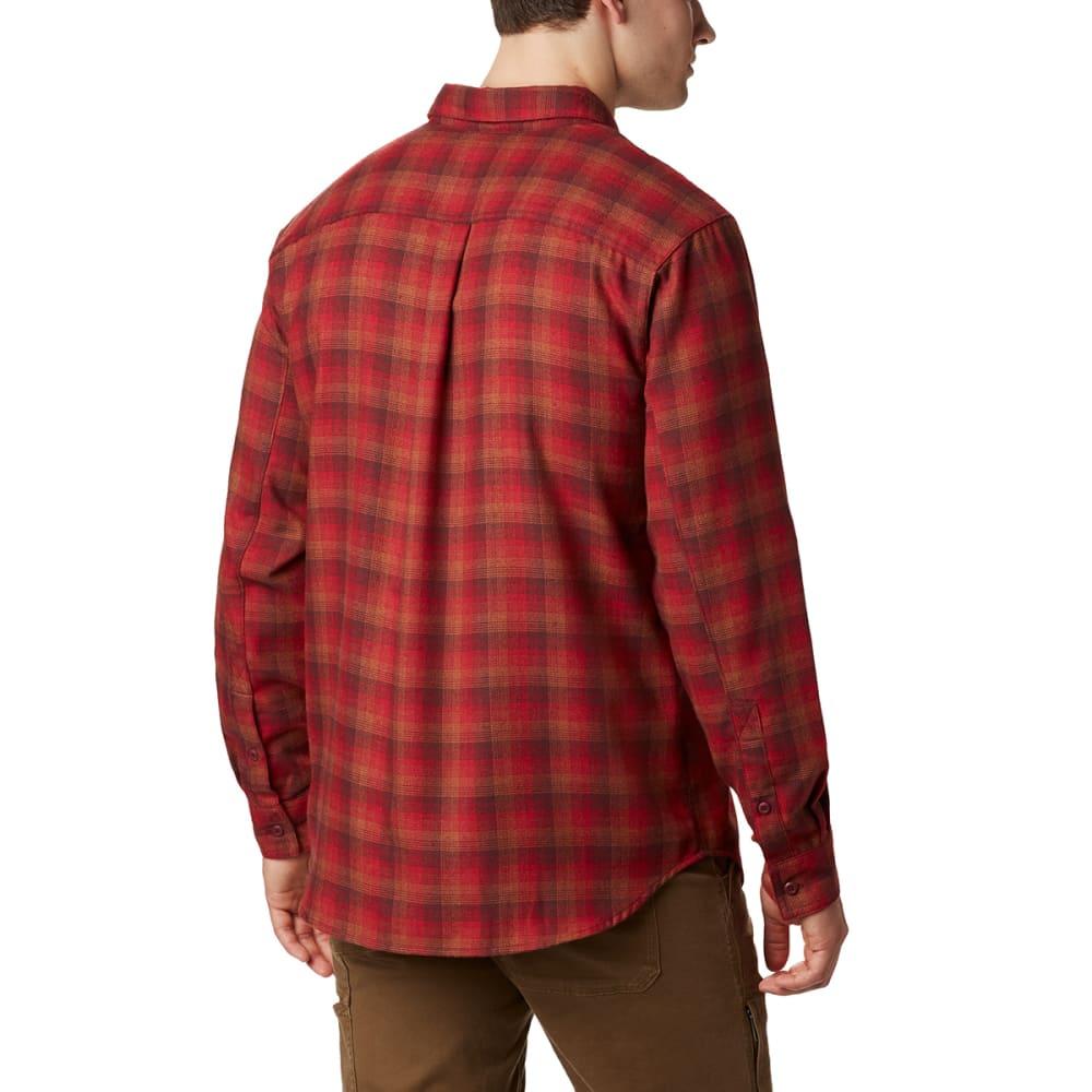 COLUMBIA Men's Silver Ridge Flannel Shirt - MT RED PLAID-613