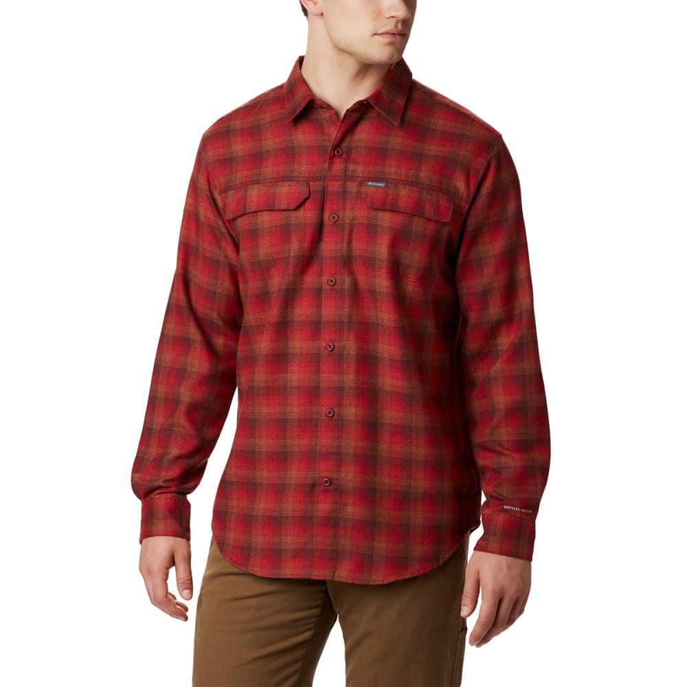 COLUMBIA Men's Silver Ridge Flannel Shirt - MT RED PLAID-613