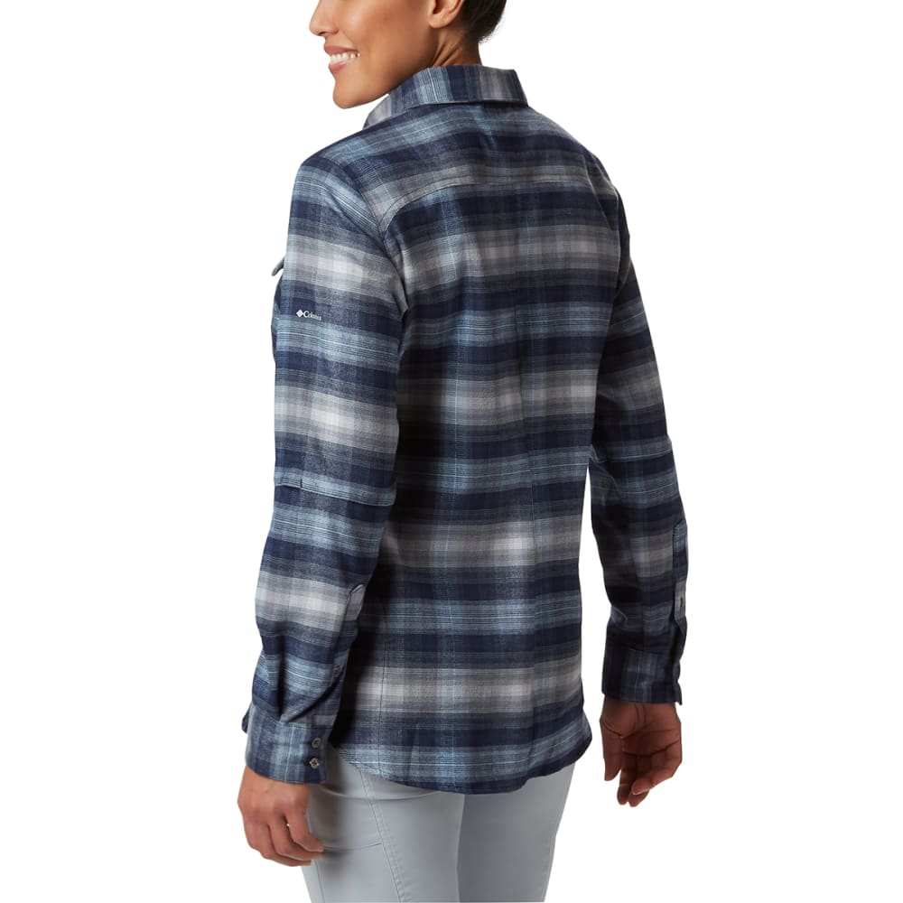COLUMBIA Women' Bryce Canyon Stretch Flannel Shirt - 472-DARK NOCTURNAL