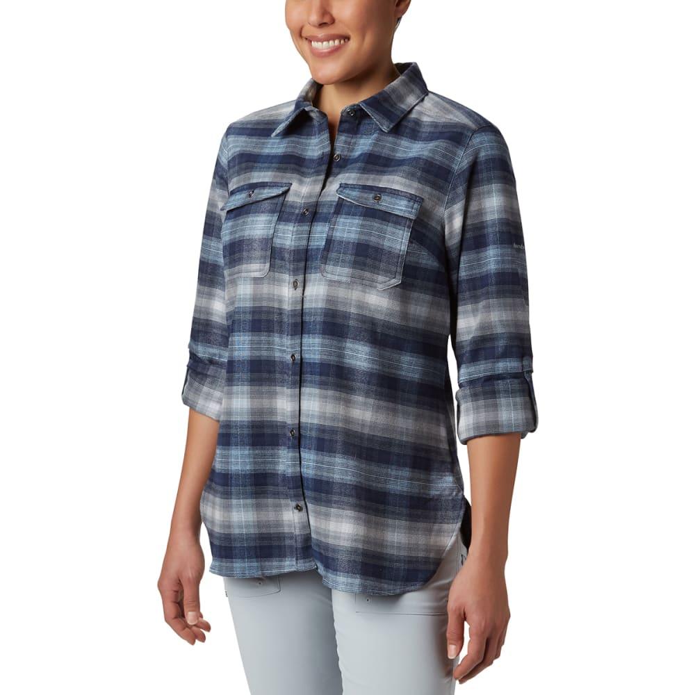 COLUMBIA Women' Bryce Canyon Stretch Flannel Shirt - 472-DARK NOCTURNAL