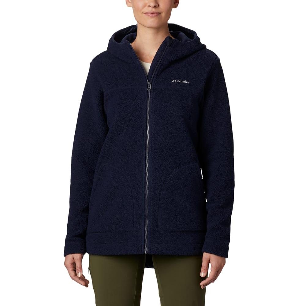 COLUMBIA Women's Full Zip Canyon Point Sherpa Hoodie - 472-DARK NOCTURNAL