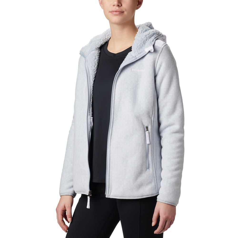 COLUMBIA Women's Full-Zip Winter Pass Print Fleece Jacket - 031-CITRUS GREY DOT