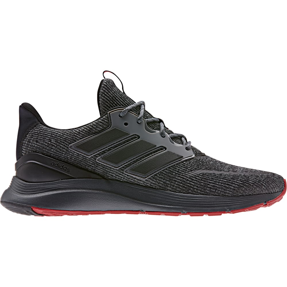 ADIDAS Men's Energy Falcon Running Shoes - BLACK/BLACK/GRY
