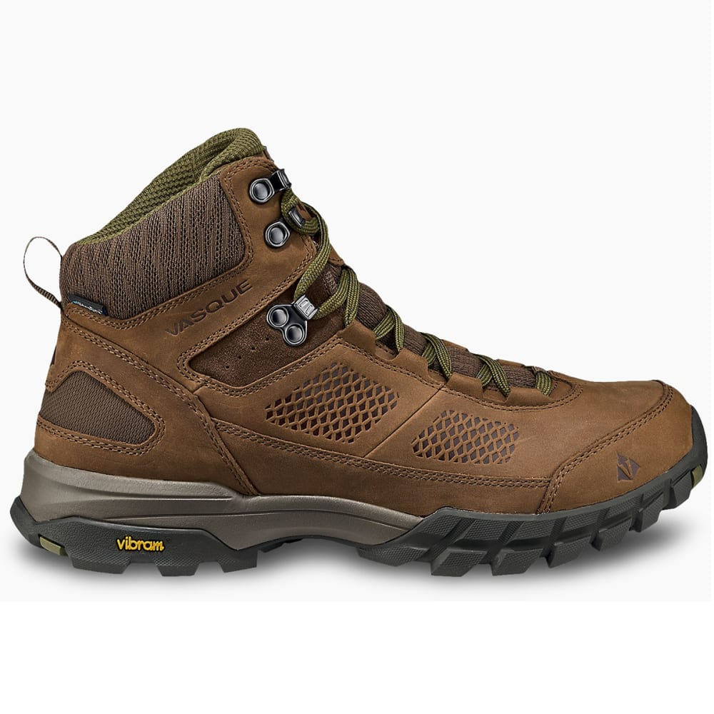 VASQUE Men's Talus Trek UltraDry Mid Hiking Boots - DK EARTH/AVOCADO