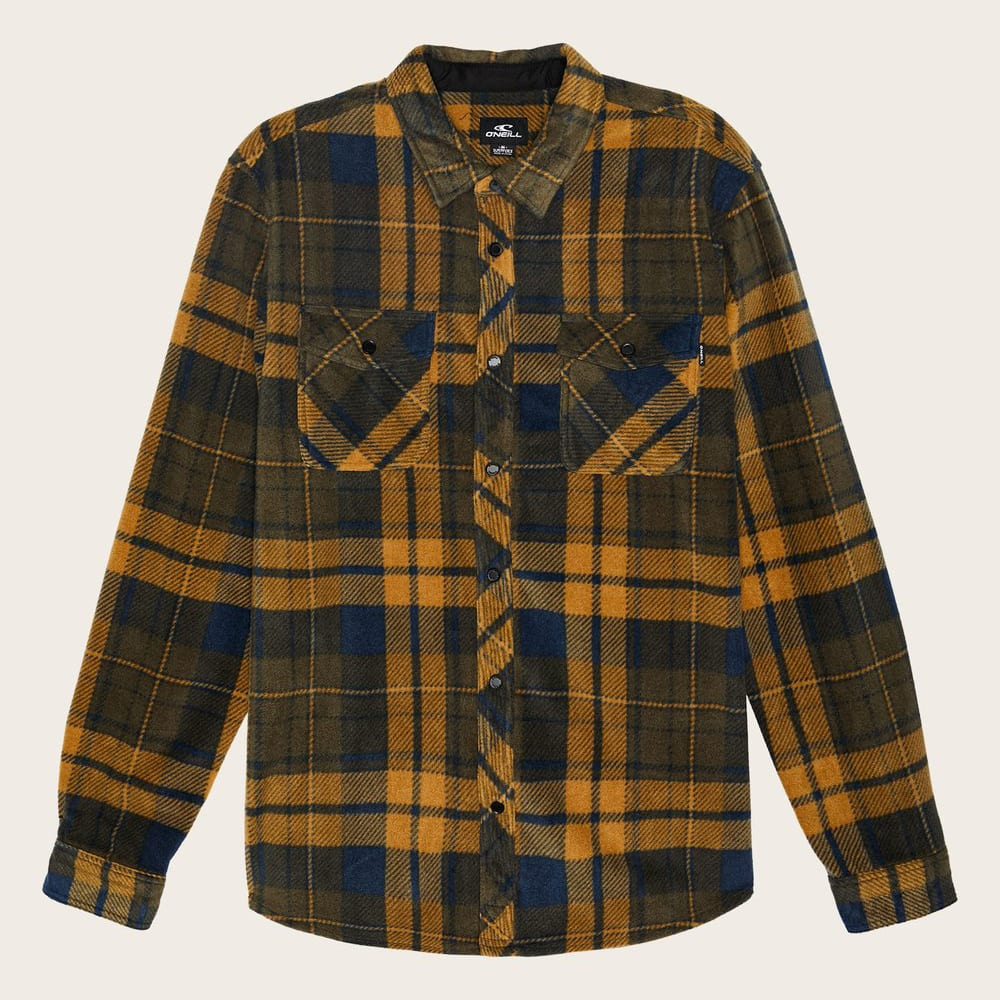 O'NEILL Men's Glacier Plaid Long-Sleeve Shirt S