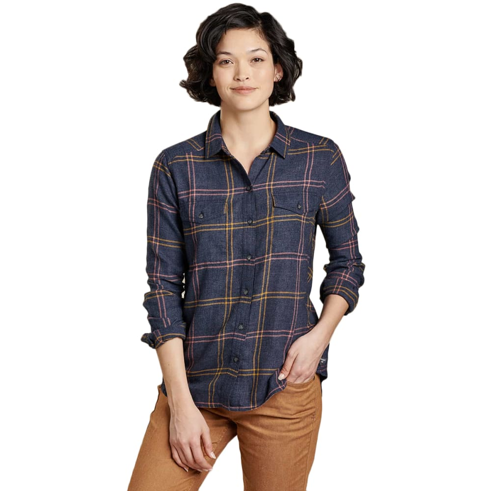 TOAD & CO Women's Re-Form Flannel Shirt - 414-TRUE NAVY
