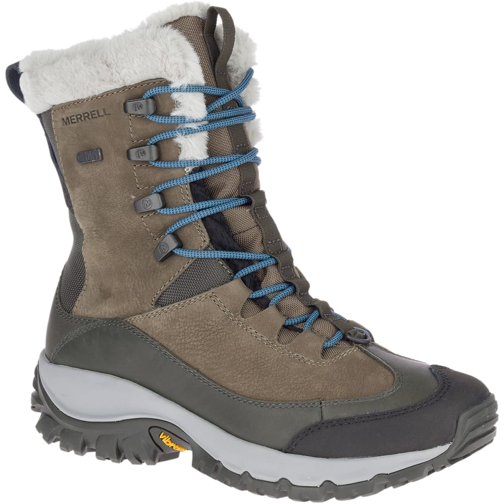 MERRELL Women's Thermo Rhea Waterproof Hiking Boot - OLIVE GREEN