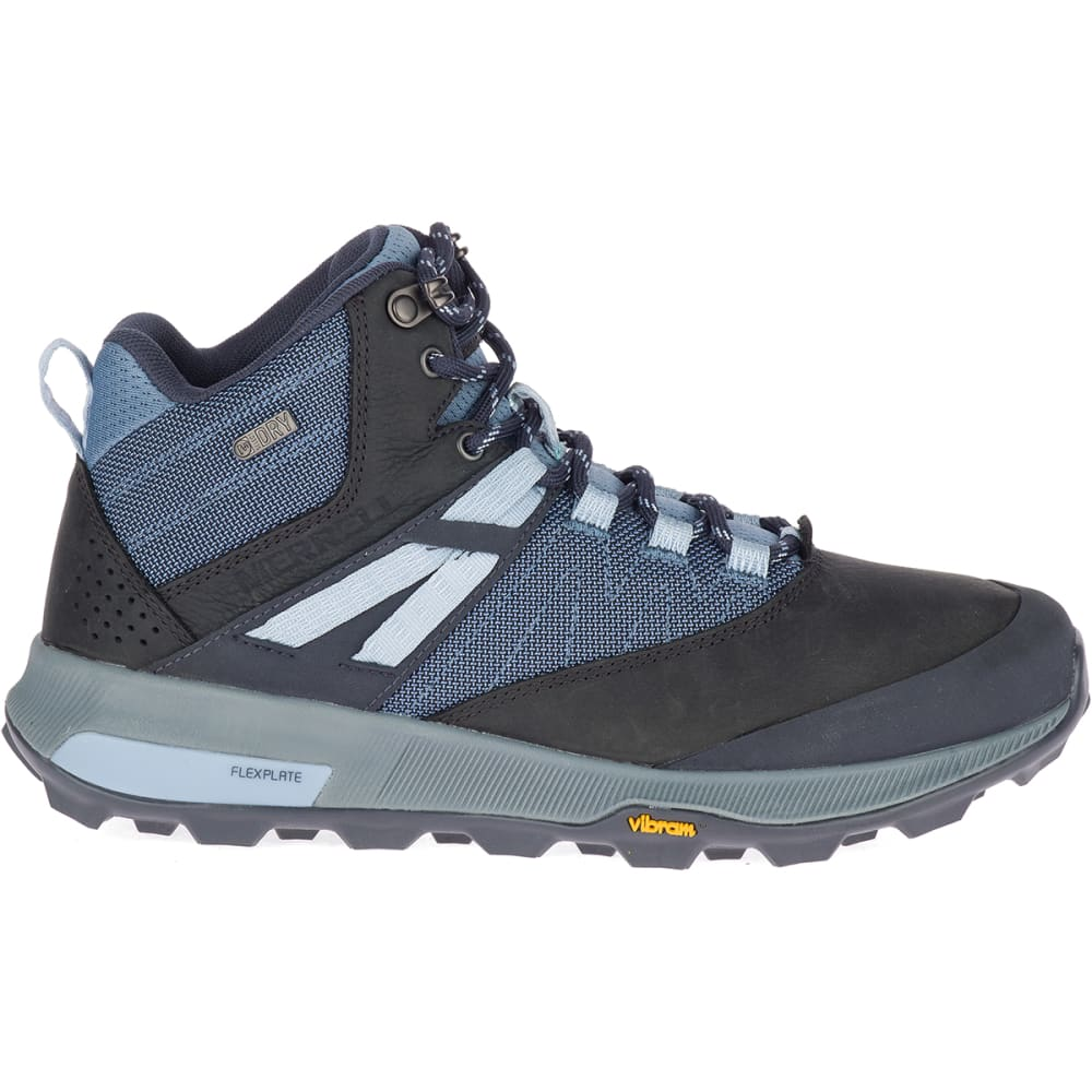 MERRELL Women's Zion Mid Waterproof Hiking Shoes - NAVY