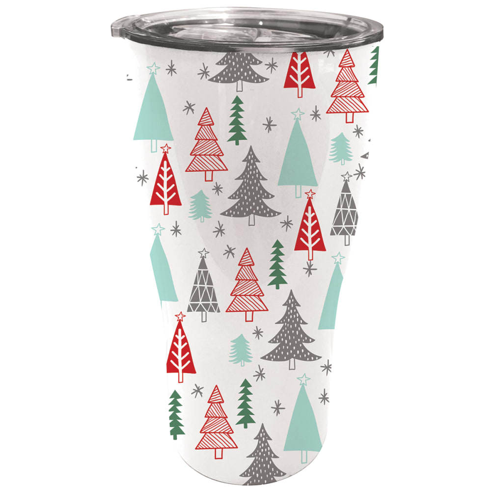 EVERGREEN ENTERPRISES Festive Woodland Double Wall 17 oz. Stainless Steel Cup - NO COLOR