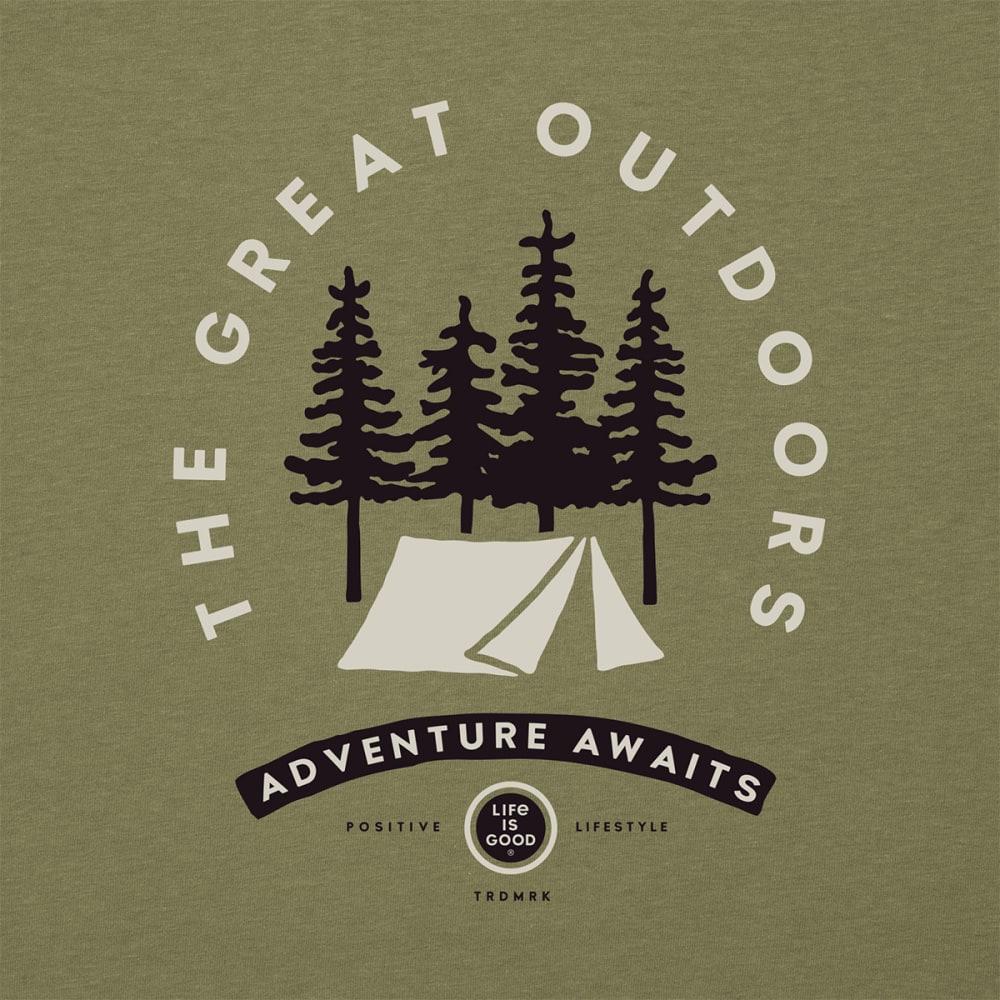 LIFE IS GOOD Men's Adventure Awaits Tee - FATIGUE GREEN