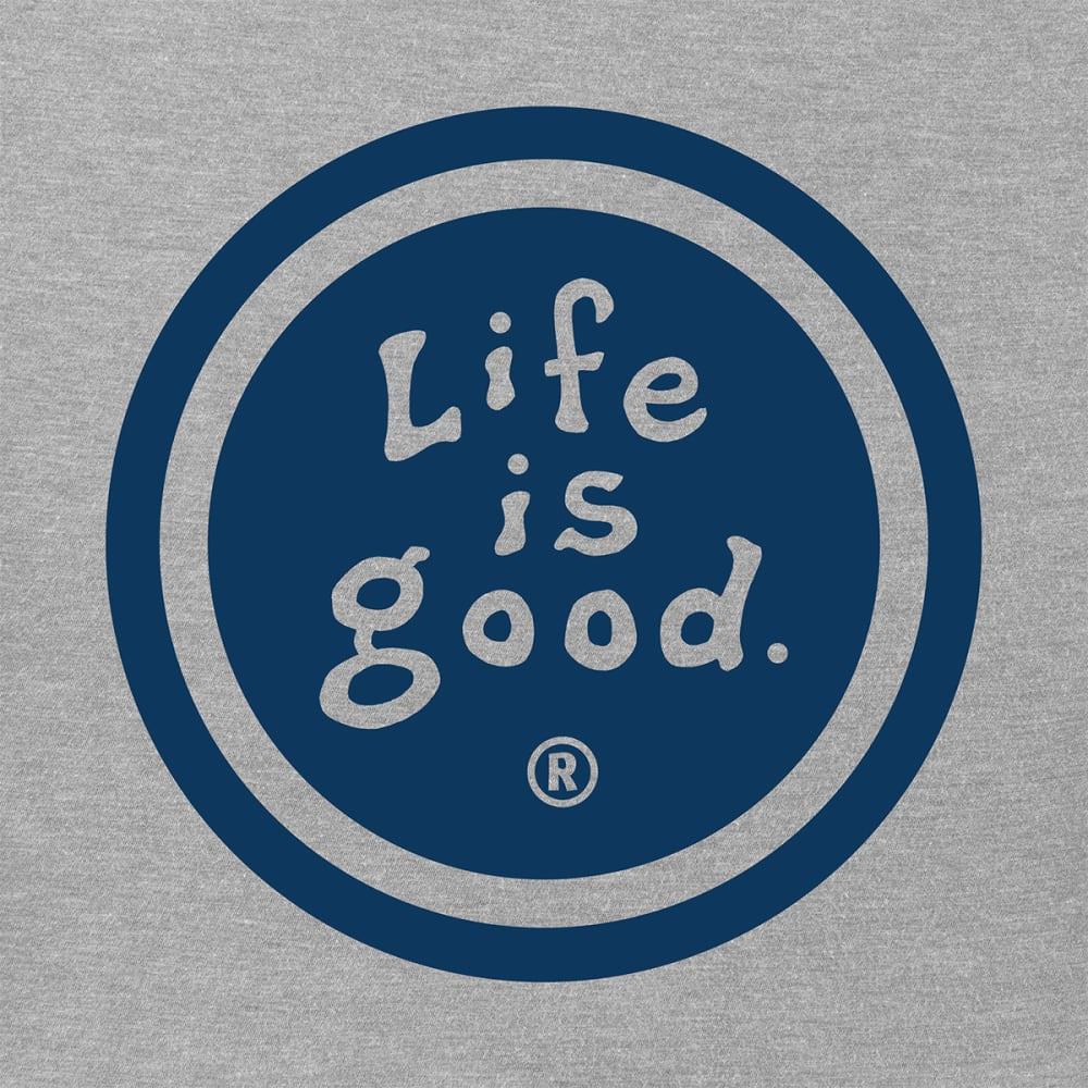 LIFE IS GOOD Men's Short-Sleeve Vintage Coin Tee - MEDIIUM GREY