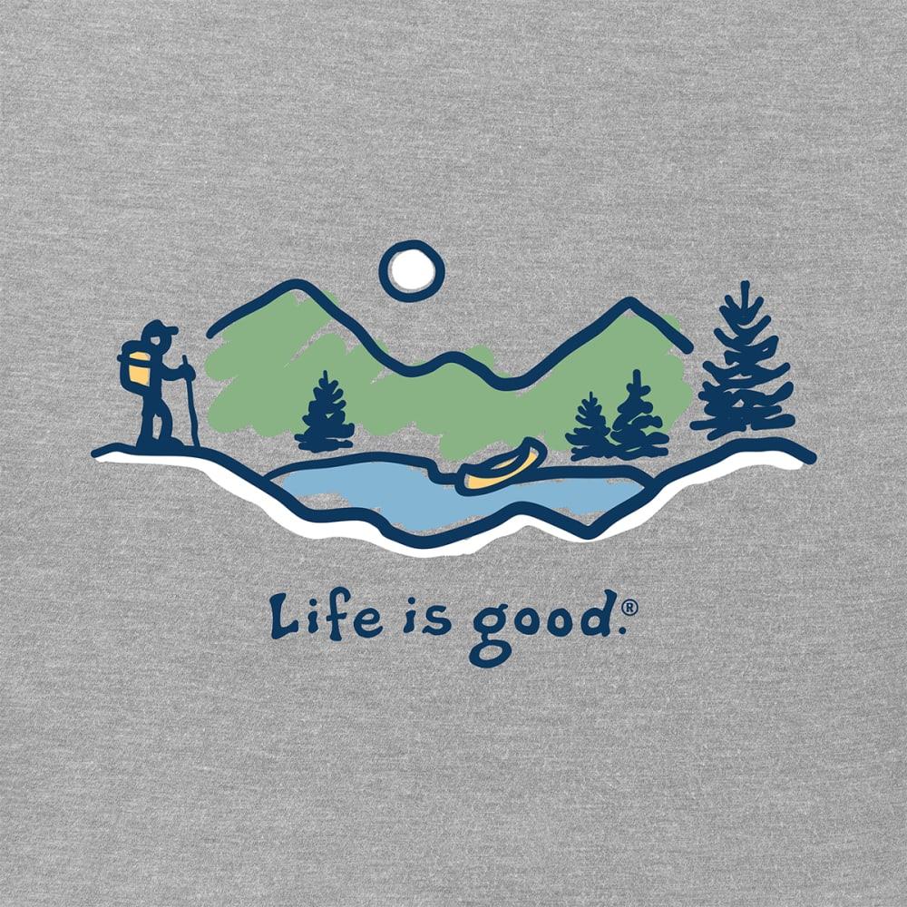 LIFE IS GOOD Men's Hike Vista Crusher Tee - HEATHER GREY