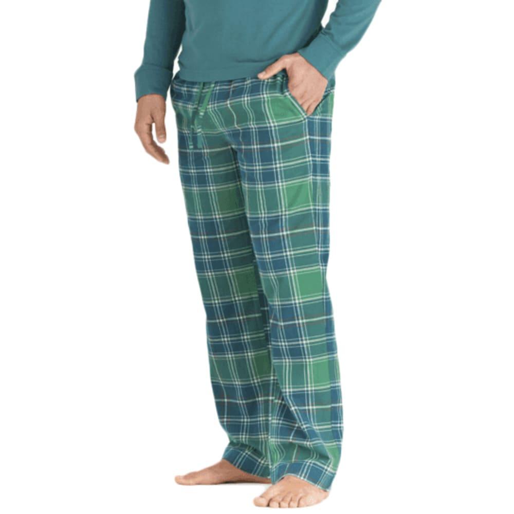 LIFE IS GOOD Men's Holiday Plaid Sleep Pants S