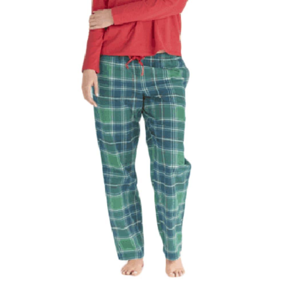 LIFE IS GOOD Women's Holiday Plaid Sleep Pants L