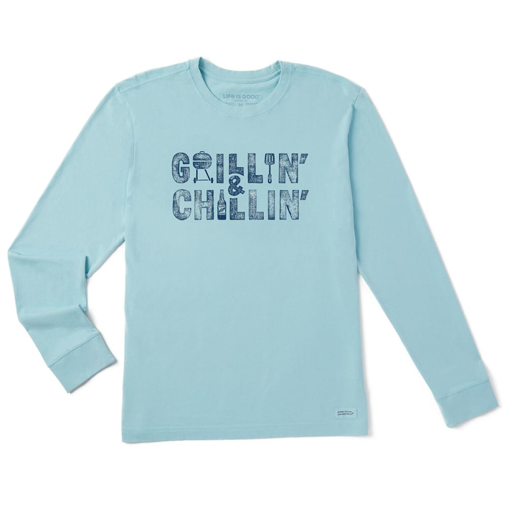 LIFE IS GOOD Men's Grillin And Chillin Long-Sleeve Crusher Tee M