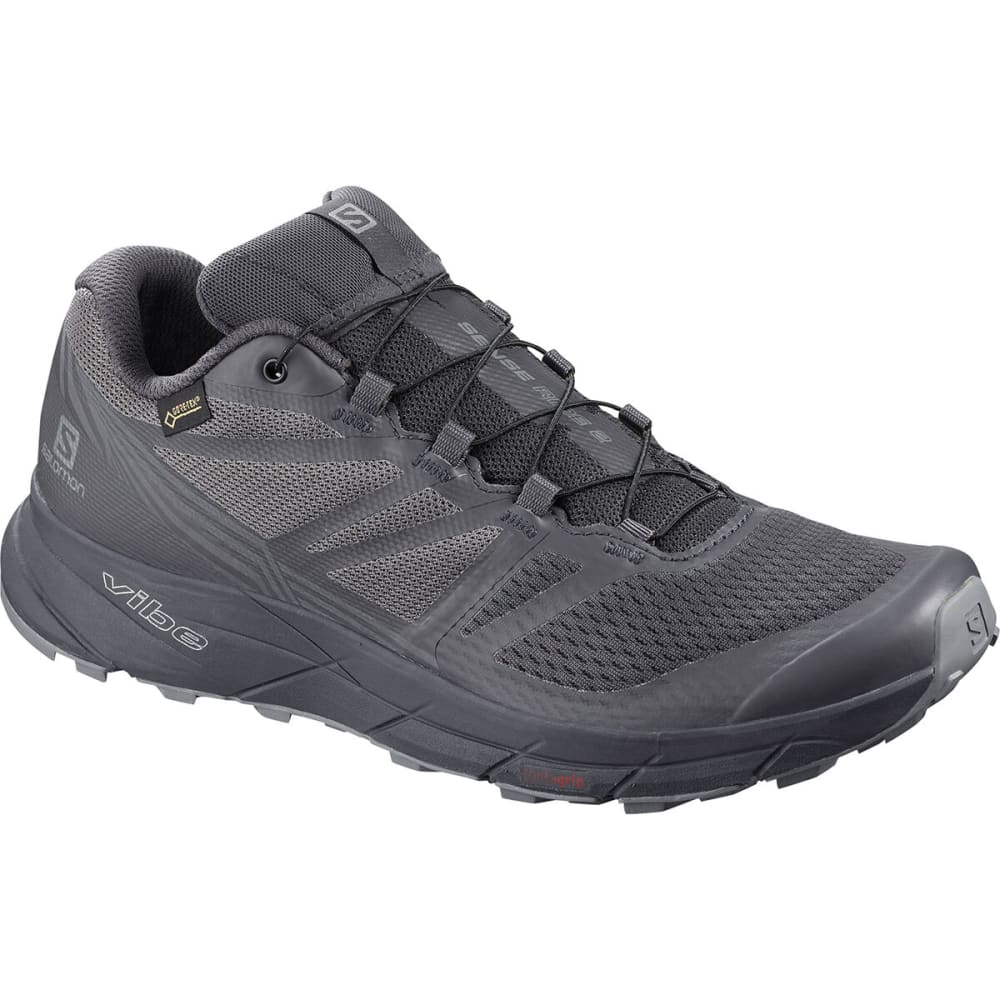 SALOMON Men's Sense Ride 2 GTX Running Shoe - EBONY/QUIET SHADE