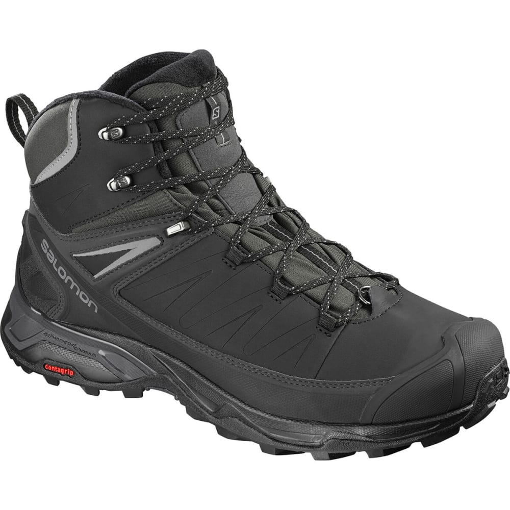 SALOMON Men's X ULTRA MID WINTER CS WP Hiking Boots - BLACK