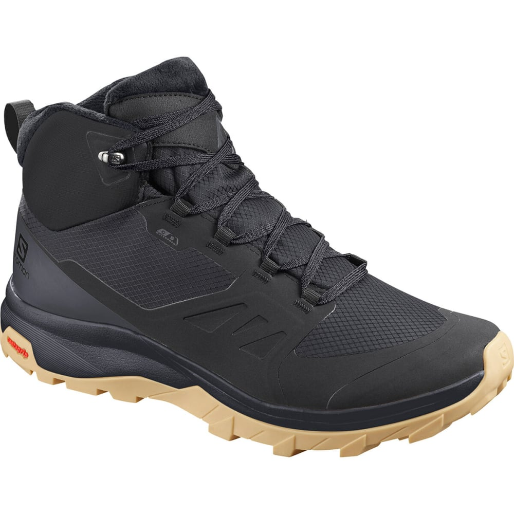 SALOMON Men's Outsnap CSWP Hiking Boot - BLACK/EBONY